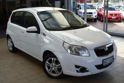 2011 Holden Barina TM Olympic White 6 Speed Automatic Hatchback