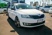 2016 Skoda Rapid NH MY16 Spaceback DSG White 7 Speed Sports Automatic Dual Clutch Hatchback Nunawading Whitehorse Area Preview
