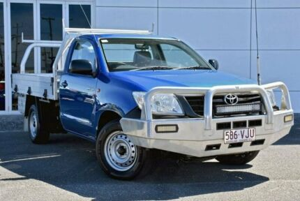 2013 Toyota Hilux TGN16R MY12 Workmate 4x2 Blue 5 Speed Manual Cab Chassis Tweed Heads South Tweed Heads Area Preview