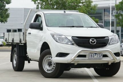2017 Mazda BT-50 UR0YG1 XT White 6 Speed Manual Cab Chassis Strathmore Heights Moonee Valley Preview
