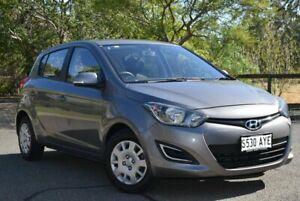 2012 Hyundai i20 PB MY12 Active Grey 5 Speed Manual Hatchback St Marys Mitcham Area Preview