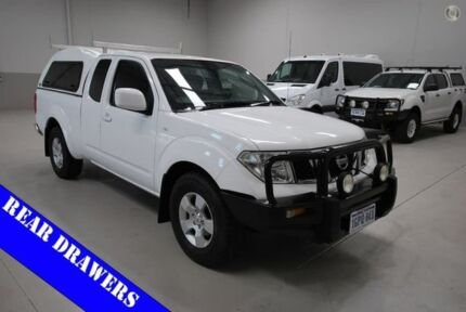 2013 Nissan Navara D40 S6 MY12 ST-X King Cab White 5 Speed Automatic Utility Kenwick Gosnells Area Preview