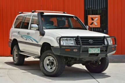 1999 Toyota Landcruiser HZJ105R GXL White 5 Speed Manual Wagon