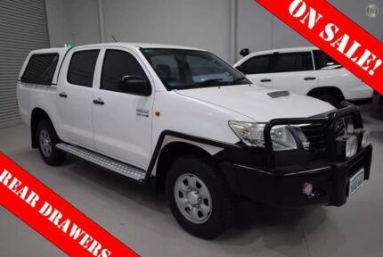 2011 Toyota Hilux KUN26R MY10 SR White 4 Speed Automatic Utility