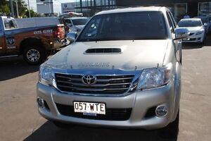 2013 Toyota Hilux KUN26R MY12 SR5 Double Cab Silver 4 Speed Automatic Utility Townsville Townsville City Preview