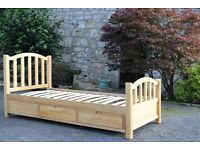 Oak single bed