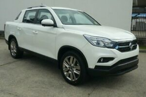 2019 Ssangyong Musso XLV MY19 Ultimate Plus Pearl White 6 Speed Automatic Dual Cab Utility