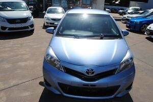 2011 Toyota Yaris NCP90R MY11 YR Blue 5 Speed Manual Hatchback Townsville Townsville City Preview