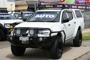 2013 Mitsubishi Triton MN MY13 GL-R Double Cab White 4 Speed Sports Automatic Utility Altona North Hobsons Bay Area Preview