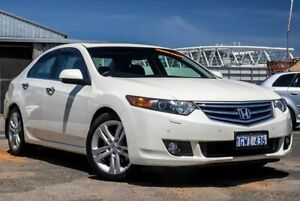 2010 Honda Accord Euro CU MY10 Luxury Navi White 5 Speed Automatic Sedan