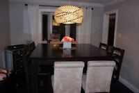 Pub Style Dining Table and Chairs (8)