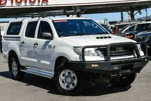 2013 Toyota Hilux KUN26R MY12 SR (4x4) Glacier White 5 Speed Manual Dual Cab Pick-up