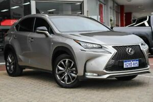 2016 Lexus NX AGZ15R NX200t AWD F Sport Silver 6 Speed Sports Automatic Wagon