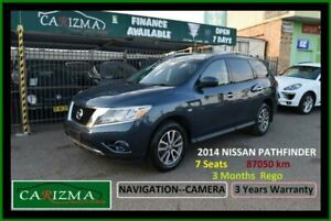 2014 Nissan Pathfinder R52 ST (4x2) Blue Continuous Variable Wagon