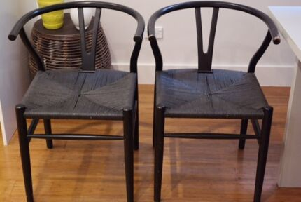 Stunning black Wishbone dining chair x 6 Canada Bay Canada Bay Area Preview