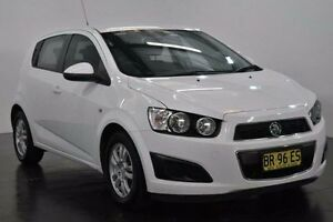 2012 Holden Barina TM CD White Automatic Hatchback Lansvale Liverpool Area Preview
