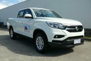 2019 Ssangyong Musso XLV MY19 ELX Grand White 6 Speed Manual Dual Cab Utility Rothwell Redcliffe Area Preview