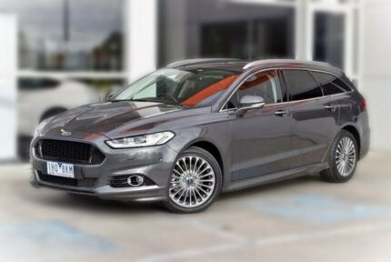 2016 Ford Mondeo MD Titanium PwrShift Grey 6 Speed Sports Automatic Dual Clutch Wagon