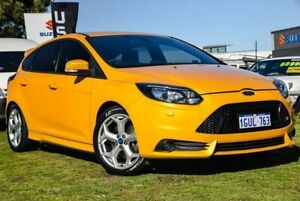 2013 Ford Focus LW MkII ST Yellow 6 Speed Manual Hatchback Wangara Wanneroo Area Preview