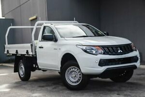 2018 Mitsubishi Triton MQ MY18 GLX 4x2 White 5 Speed Manual Cab Chassis Osborne Park Stirling Area Preview