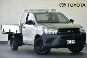 2019 Toyota Hilux TGN121R Workmate 4x2 Silver 5 Speed Manual Cab Chassis