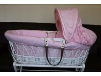 Moses Basket Izziwotnot White wicker