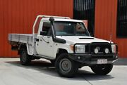 2009 Toyota Landcruiser VDJ79R Workmate White 5 Speed Manual Cab Chassis Molendinar Gold Coast City Preview