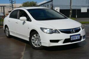 2010 Honda Civic MY09 VTi White 5 SP AUTOMATIC Sedan Kewdale Belmont Area Preview