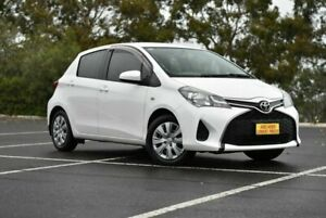 2015 Toyota Yaris NCP130R Ascent White 4 Speed Automatic Hatchback Enfield Port Adelaide Area Preview