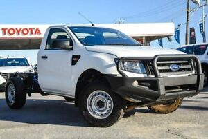 2014 Ford Ranger PX XL 2.2 Hi-Rider (4x2) Cool White 6 Speed Automatic Cab Chassis Osborne Park Stirling Area Preview