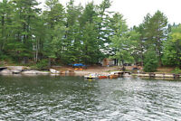 Fishing lodge 2 cottages 5 acres on 11 acres island French River