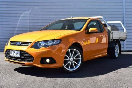 2013 Ford Falcon FG MkII XR6 Super Cab EcoLPi Orange 6 Speed Sports Automatic Cab Chassis
