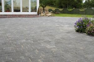 TUMBLED BLOCK PAVING // TWO SIZE // FIRST QUALITY // CHARCOAL / 9.52M2 PACK