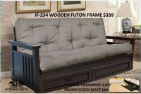 GREAT PRICES-HUGE VARIETY OF STYLES & COLOURS OF FUTONS
