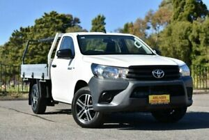 2017 Toyota Hilux TGN121R Workmate 4x2 White 5 Speed Manual Cab Chassis Enfield Port Adelaide Area Preview