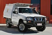 2008 Nissan Patrol GU 6 MY08 DX White 5 Speed Manual Cab Chassis Molendinar Gold Coast City Preview
