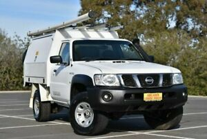 2015 Nissan Patrol Y61 Series 5 MY15 DX White 5 Speed Manual Cab Chassis Enfield Port Adelaide Area Preview