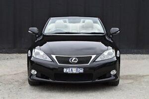 2012 Lexus IS250 C GSE20R MY10 Prestige Starlight Black 6 Speed Sports Automatic Convertible Berwick Casey Area Preview