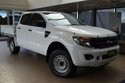 2012 Ford Ranger PX XL 2.2 HI-Rider (4x2) White 6 Speed Automatic Crew Cab Pickup