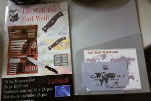 German Knife set & Carrying / Storage case