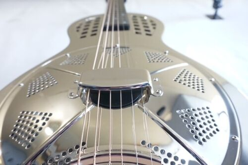 Quincy Acoustic Guitar Resonator Dobro Silver Son Shine slide blues country UK