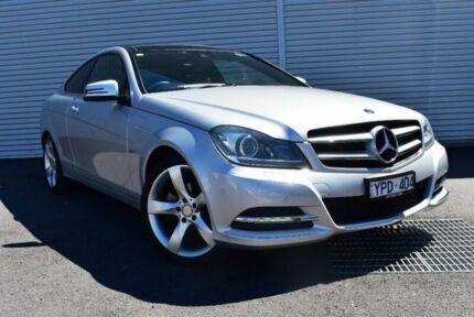 2011 Mercedes-Benz C250 CDI C204 BlueEFFICIENCY 7G-Tronic Silver 7 Speed Sports Automatic Coupe