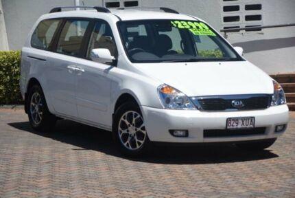 2014 Kia Grand Carnival VQ MY14 SLi Clear White 6 Speed Sports Automatic Wagon