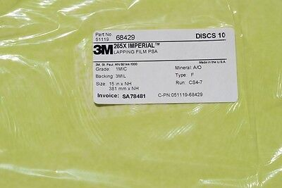 3m Imperial Lapping Film Disc 265x 15xnh 1mic 3 Mil Material Ao Qty 1050