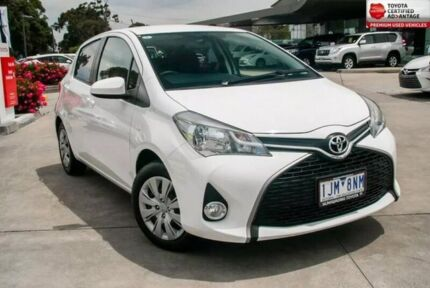 2017 Toyota Yaris White Automatic Hatchback