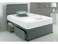 ⭐🆕BEST PRICES LUXURY DIVAN BED BASES IN SINGLE/DOUBLE/SMALL DOUBLE/KINGSIZE & MATTRESS OPTION