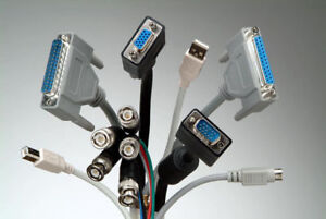 Network-Ethernet-HDMI-VGA-DVI Cable and Connectors
