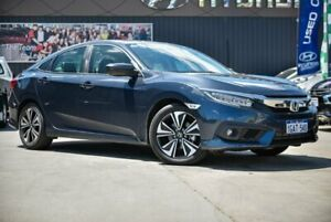 2016 Honda Civic 10th Gen MY16 VTi-LX Blue 1 Speed Constant Variable Sedan Midvale Mundaring Area Preview