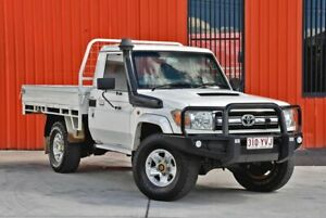 2010 Toyota Landcruiser VDJ79R MY10 GXL White 5 Speed Manual Cab Chassis Molendinar Gold Coast City Preview