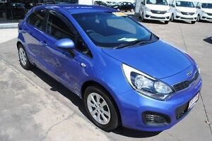 2012 Kia Rio UB MY13 S Electric Blue 6 Speed Manual Hatchback Townsville Townsville City Preview